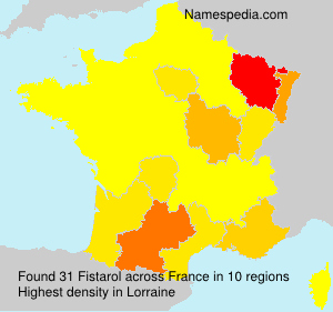 Surname Fistarol in France