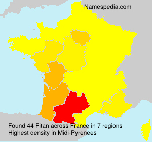 Surname Fitan in France