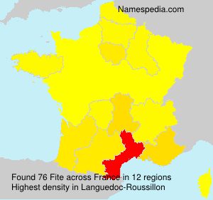 Surname Fite in France