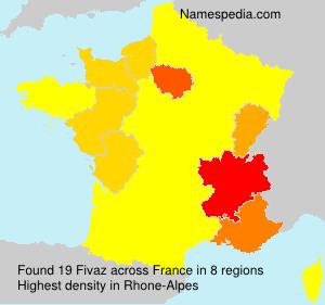 Familiennamen Fivaz - France