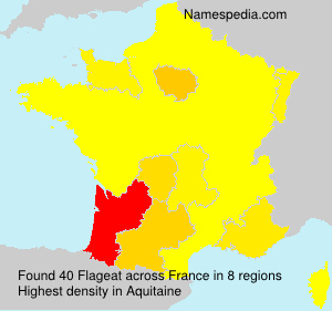 Surname Flageat in France