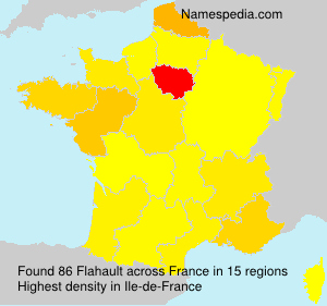 Surname Flahault in France