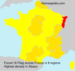 Surname Flaig in France