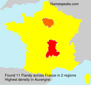 Surname Flandy in France
