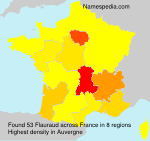 Surname Flauraud in France