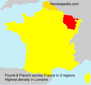 Surname Flavoni in France