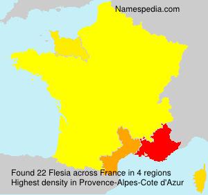 Familiennamen Flesia - France