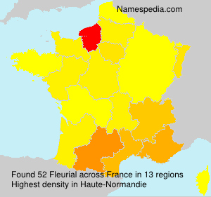 Surname Fleurial in France