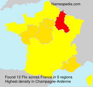 Surname Flix in France