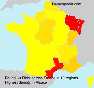 Surname Flohr in France