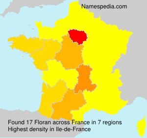Surname Floran in France
