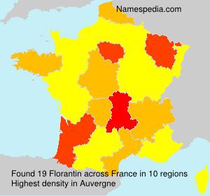 Surname Florantin in France