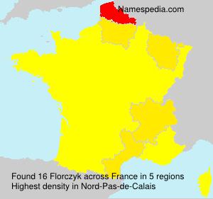 Familiennamen Florczyk - France