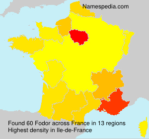Surname Fodor in France