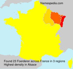 Familiennamen Foerderer - France
