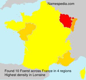 Familiennamen Foerst - France