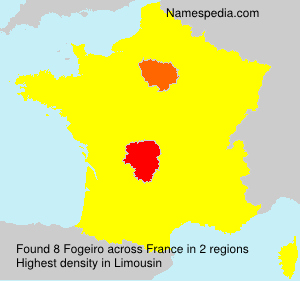 Surname Fogeiro in France
