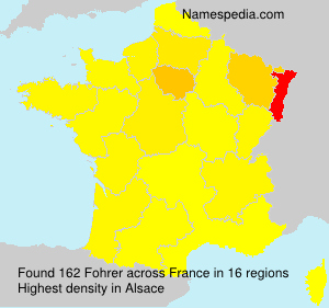 Surname Fohrer in France