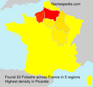 Surname Folastre in France