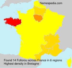 Surname Follorou in France