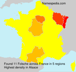 Surname Folsche in France