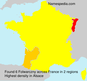 Surname Folwarczny in France