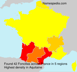 Surname Foncillas in France