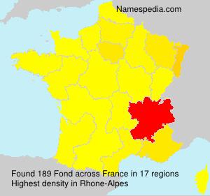 Familiennamen Fond - France