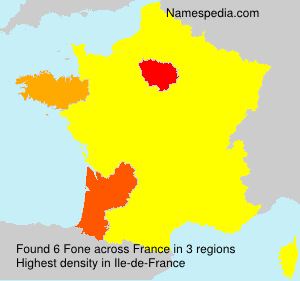 Surname Fone in France