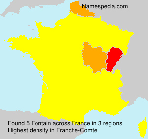 Surname Fontain in France