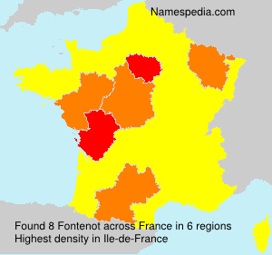 Surname Fontenot in France