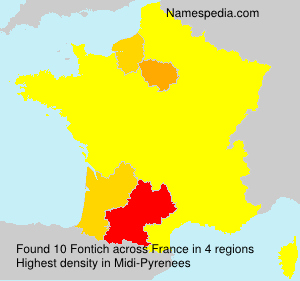 Surname Fontich in France