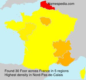 Surname Foor in France