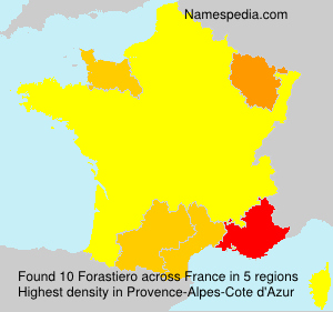 Surname Forastiero in France