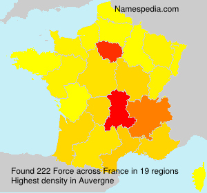 Surname Force in France