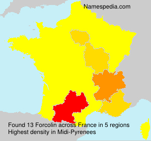 Surname Forcolin in France
