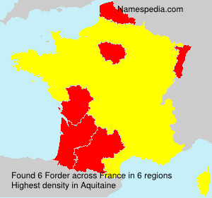 Familiennamen Forder - France