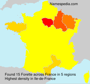 Surname Forette in France