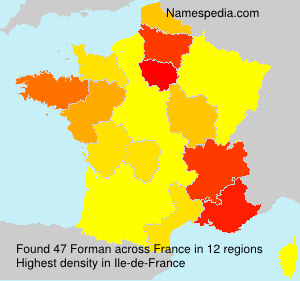 Surname Forman in France