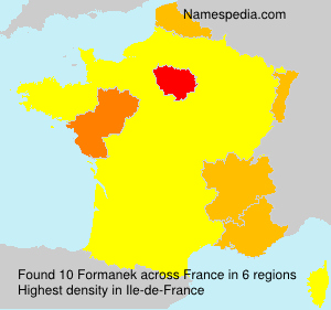 Surname Formanek in France