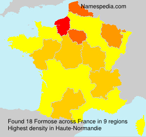 Familiennamen Formose - France