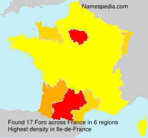Surname Foro in France