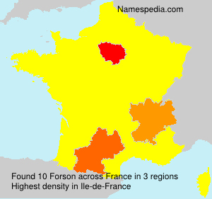 Surname Forson in France