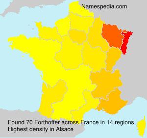 Surname Forthoffer in France