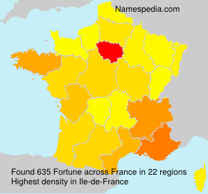 Surname Fortune in France
