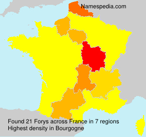 Surname Forys in France