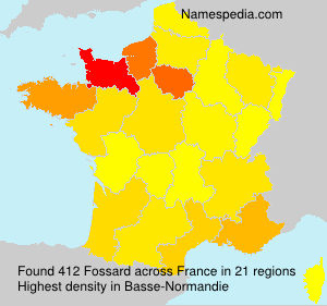 Surname Fossard in France