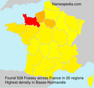 Surname Fossey in France