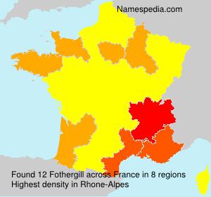 Surname Fothergill in France