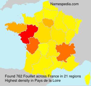 Surname Fouillet in France